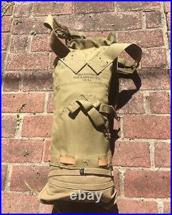 1941 Mint US Military Vtg Tent Mess ORIGINAL WWII WW2 BACKPACK Rucksack RARE