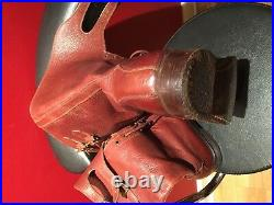 1944 Rare WW2 RAF Royal Air Force leather double buckle pilot boots Sz 8UK 9.5US