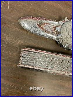 1956 Ford Big Job F-800 Truck Coe Hood Emblems Ornaments Badge Pair Original 221