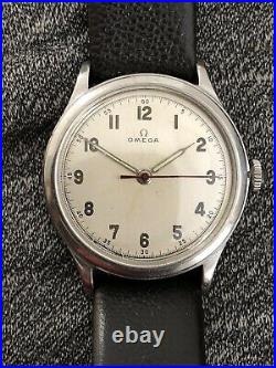 40's WW2 Vintage Omega Military Watch 2179 30T2 Rare Stainless Original Dial