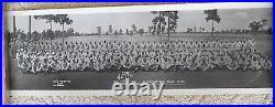 Afro-American Black Troops Soldiers at Fort Bragg NC WIDE Photo WW2 Vintage RARE