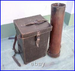 Antique Very Rare Wwii Military Trench Binoculars ´´italian Zeiss´´ Tripod Boxed