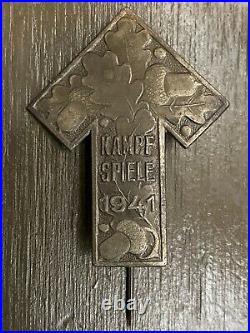 Cased WW2 German Kampf Spiele Sports Badge Tyr Rune 1941 EX RARE Mint Cond