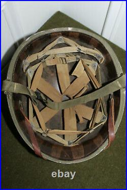Choice & Rare Original WW2 U. S. M1 Helmet and Liner, Excellent and Untouched