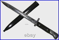Czech VZ 24 Short German Mauser AG Rare Sawback Bayonet Scabbard Survival Knife