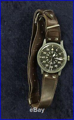 Extremely Rare Stowa B-Uhr Watch Luftwaffe German WWII Pilot Type B 55 mm