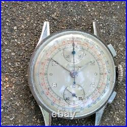 Fm0 Rare Wwii Military Breitling Chronograph Mens Watch Excellent Original Dial