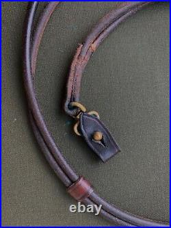 German Luger P08 Lanyard Strap WWI WWII, Leather, original, 33, used Rare