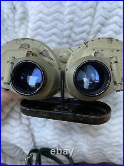 German WWII U-boat Commanders Glass 8x60 U-Boat CXN Binoculars WW2 RARE