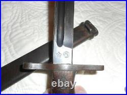Japanese WW2 Type 30 bayonet K Star RARE Nice blade