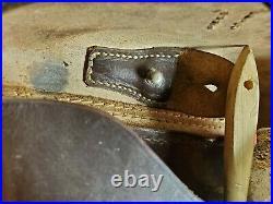 Luger P08 German Holster CDG 41 Rare Dark Brown Original WWII WW2