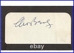 Moe Berg signed cut JSA LOA White Sox Spy WWII d. 1972 Bold Auto Rare Z320