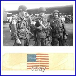 ORIGINAL WW2 US Airborne Paratrooper Invasion Flag Armband 101st CL RARE