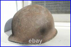 Old Original Rare Made American Helmet M1 WWII WW2 Army Military