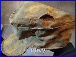 Original German WW 2 M43 Elite Smoke Camo Visor Cap rare