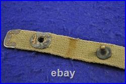 Original & Rare Early Wwii 1942-43 Us M1 Carbine Khaki Colored C-tip Sling