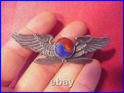 Original Rare Wwii Era Korea / Korean Military / Airlines Pilot Wings Badge Pin