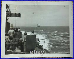 Original WW2 3 Photos USS Intrepid CV-11 Kamikaze Strike November 25 1944 Rare