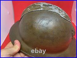 Original WW2 Belgian Army M31 Adrian Helmet RARE Complete Liner & Chinstrap
