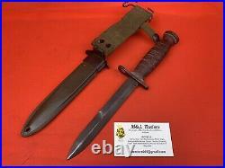 Original WW2 M1 Carbine Bayonet Camillus Transitional M3 Blade RARE USGI Issued