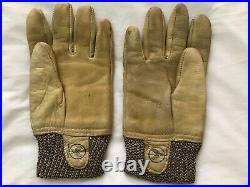 Original WW2 USAAF A-10 flying gloves size around 10 rare