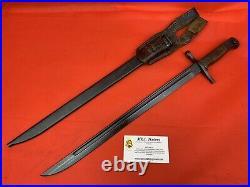 Original WW2/WWII Japanese Arisaka Bayonet RARE MAKER NAMED FROG IJA NICE Bonzai