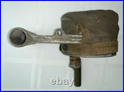 Original WWII FEDERAL ELECTRIC CO. Handheld Air Raid Siren with Rare Cover