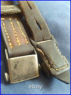 Original WWII German K98 G43 33/40 Mauser Leather Sling S&C Proofed Rare