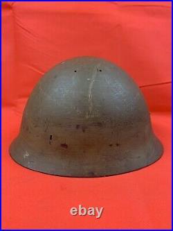 Original WWII Japanese IJA Helmet Star Writing Inside RARE
