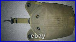 Original ww2 us army airborne/cavalry canteen cover mounted withhanger 1943 RARE