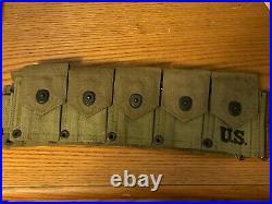 Original ww2 wwll us army usmc m1 garand cartridge belt dated 1941 unissued RARE