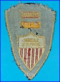 Post WW 2, Rare Combination Labor Service Insignia, Emb. On wool, Good Cond, #1