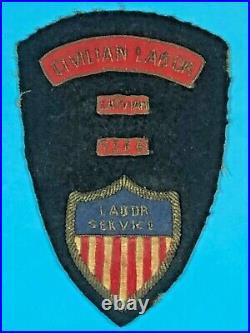 Post WW 2, Rare Combination Labor Service Insignia, Emb. On wool, VG Cond, #2