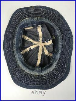 Pre Wwii Ww2 Us Army Navy Denim Hat Daisey May Work Wear Union Made Rare