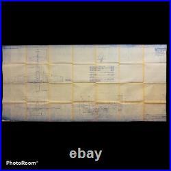 RARE 1943 Original WWII North American Aviation P-51 Mustang Design Blueprint