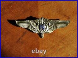 RARE Authentic WWII U. S. Army Flight Nurse Wing Vanguard 2 PB Sterling