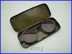 RARE LUFTWAFFE Sunglasses German FLYING WW2 VINTAGE Goggles PILOT AVIATOR Air