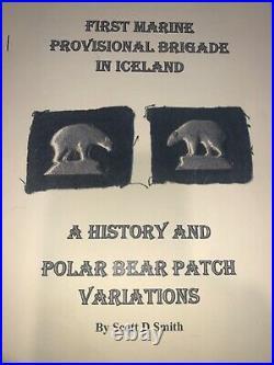RARE ORIGINAL WW2 USMC 1st MARINE PROVISIONAL ICELAND METAL POLAR BEAR PATCHES