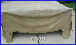 RARE! Original German WWII Truck Canvas Cover For Sale Manufactured Marked
