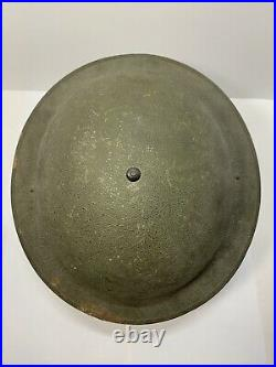 RARE Original Pre or Early WWII US M1917A1 Helmet W Box Stitched Chinstraps