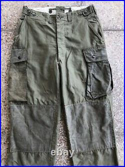 RARE Original WWII M43 Rigger Modified Paratrooper Jump Trousers 32x34 Near Mint