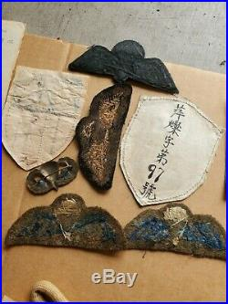 RARE Oss WWII Named Grouping Patches Jump Wings China India Original Photos WOW