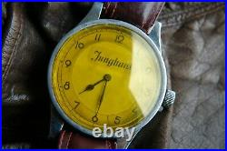 RARE WW1 Aviator Pilot Watch antique pre WWII Oversized Flieger big crown WWI