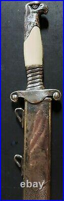 RARE! WW2 vintage German Alcoso S RAD Leader Officer Hewer/Dagger with Scabbard