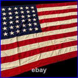 RARE! WWII Landing Craft 48 Star Flag Ensign No. 9 Salty Theater Flown LCI LCT