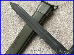RARE WWII US ARMY M1905 Springfield M1 Garand Bayonet WT 1942 Wilde Tool 10 UC