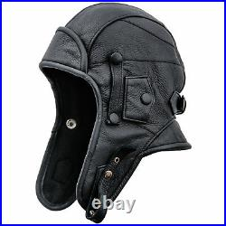RARE World war PILOT REAL LEATHER FLYING FACE MASK Aviator WWII AXIS ALLIED New