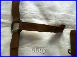 Rare Brelage Cuir Cavalerie Wwi 1914-1918 Ou Wwii France Original