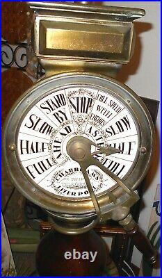 Rare Chadboam's Brass Ship's Telegraph (Liverpool) 40 Tall Lamp
