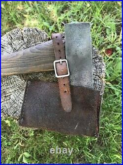 Rare Collins Legitimus Axe From Ww2 Soldier With Beautiful Original Handle